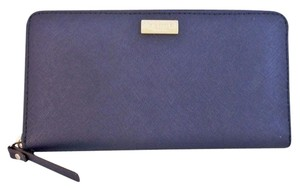 Kate Spade Neda Ny Newburry Lane Leather Wallet Nwt Offshore Blue Clutch