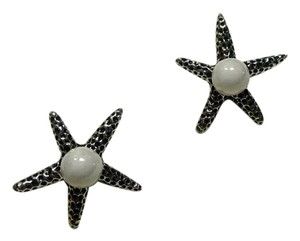 Betsey Johnson Betsey Johnson Silver Starfish Stud Earrings J2846