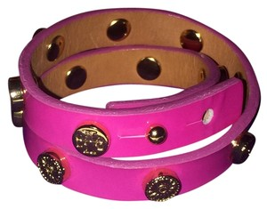 Tory Burch Brand New TORY BURCH Braclet DOUBLE WRAP FOUNDATION LEATHER Pink