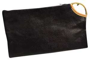 Princess Gardner Black Leather Zipper Pouch Princess Gardner