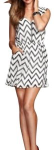 Guess short dress Black and white on Tradesy