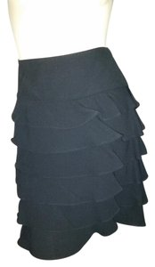 INC International Concepts Tiered Ruffle Skirt BLACK