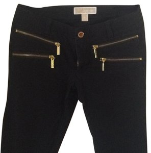 Michael Kors Zipper Jeans Black Jeans Skinny Pants