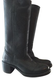 Frye Sabina Campus Leather Black Boots