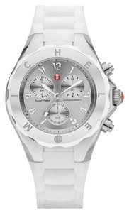 Michele Michele Women's Jelly Bean Silver White Silicone Watch MWW12F000032