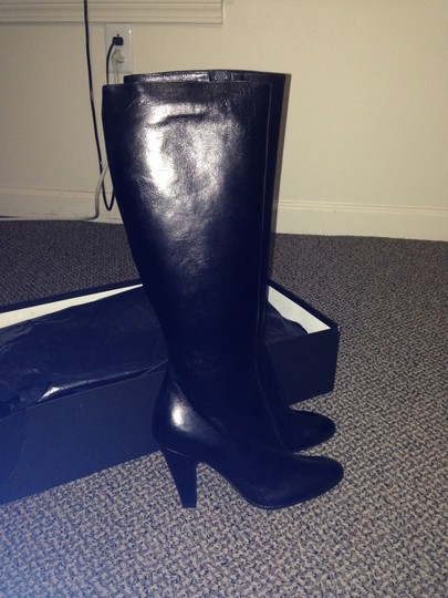 Barneys New York Leather Black Boots