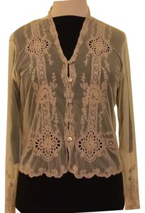 Anthropologie Top Tan