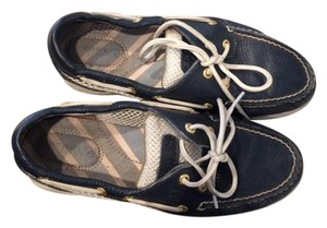Sperry Navy Blue/White Flats