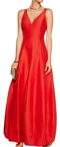 Halston Lipstick Tulip Gown Dress