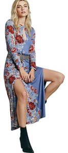 Floral Maxi Dress by Free People Blue Piece Of Heaven