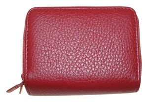 Buxton Little Red Leather RFID Credit Card Security Safety Wallet