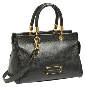 Marc by Marc Jacobs Leather Tote Satchel in BLACK