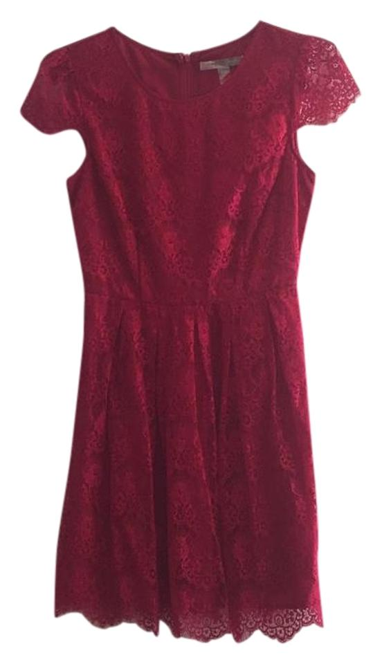 Forever 21 Berry Contemporary Above Knee Cocktail Dress Size 6 (S ...