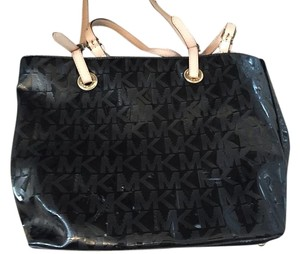Michael Kors Coated Canvas Tote in Black