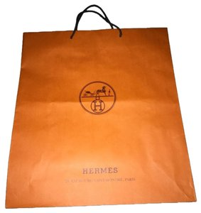 Herms Hermes Lg Gift/shop Bag