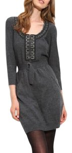 Nanette Lepore short dress Charcoal Merino Wool Beading Pockets Statement on Tradesy