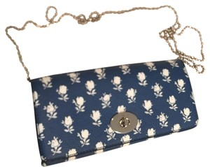 Coach Blue White Silver Clutch