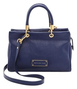 Marc by Marc Jacobs Leather Tote Satchel in BLUE
