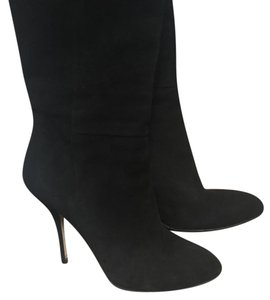 Gucci Suede Classic Highheel Black Boots