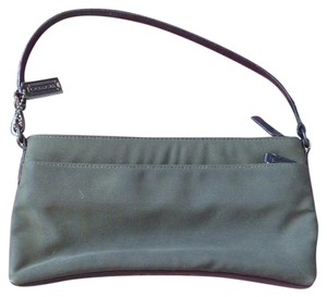 Coach Wristlet in Olive And Black