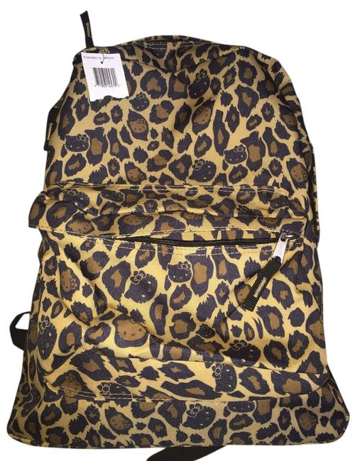 Item - Tiger Black and Brown Canvas Type Backpack