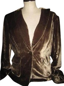 Emanuel Ungaro Mint Vintage Great Separate New Old Stock W Tags One Button Style Dressy Or Casual brown velvet Blazer