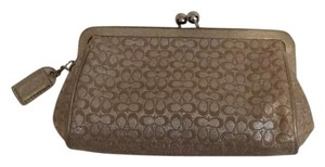 Coach Gold/ Silver Clutch