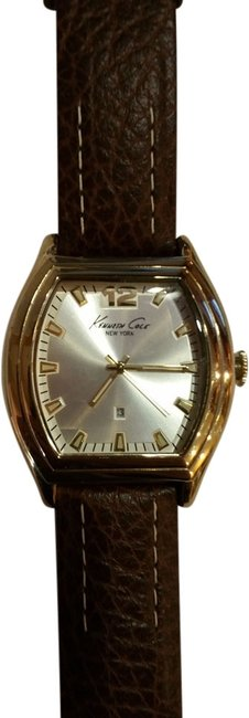 Item - Brown Leather With Gold Tone Accent Men's Wrist Watch