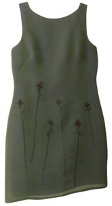 Laundry by Shelli Segal Embroidered Iridescent V-back Dress