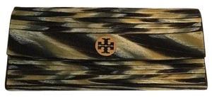 Tory Burch Mixed Colors - Black , Yellow, White, Grey Clutch