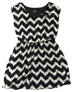 IZ Byer California short dress Black and white on Tradesy