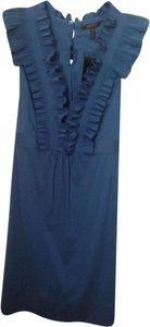 BCBGMAXAZRIA Max Azria Ruffle Blue Dress