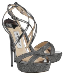 Jimmy Choo Silver Anthracite Pumps