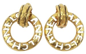 Chanel Gold Huggie Earrings with Removable Hoop Vintage 1990