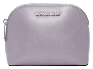 Michael Kors NWT Cindy Patent Leather Cosmetic Case Travel Pouch Lilac