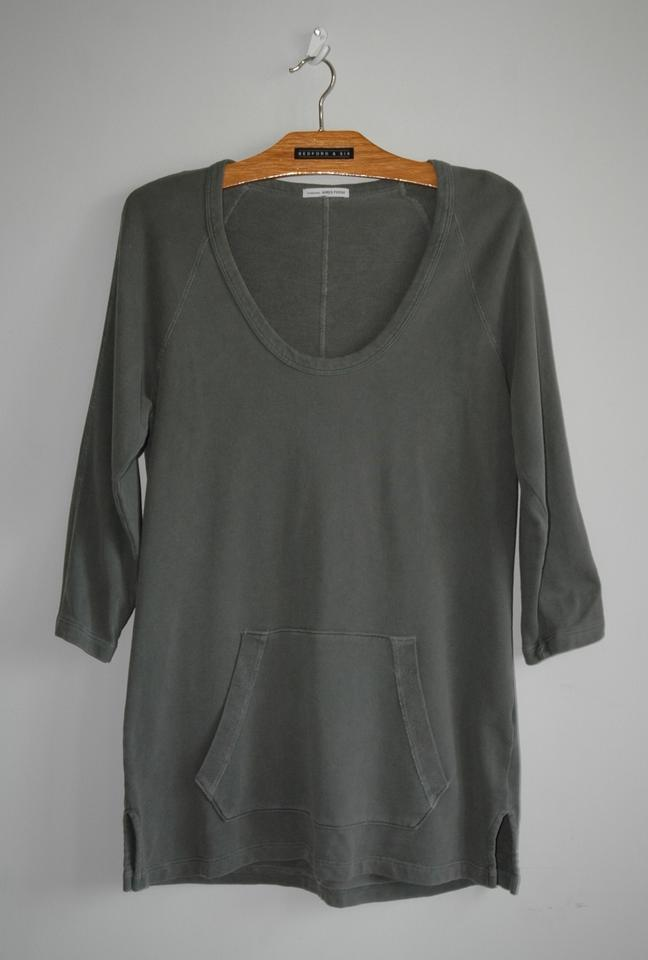 Neck Pullover Gray Round Sweater Khaki James Perse Tunic 6RqgIxp