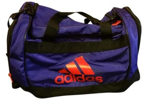 adidas Duffle Gym Workout Purple/Orange Logo Travel Bag