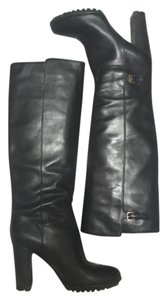 Sergio Rossi Casual Leather Black Boots