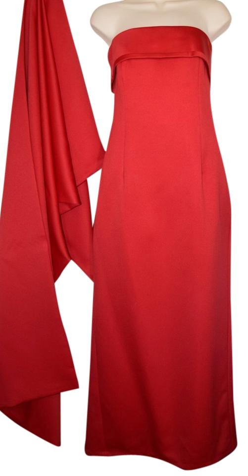 Red Holiday Wear2 Piece Gown Waltzer Bloomingdales Long Formal Dress