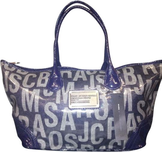 Marc by Marc Jacobs Designer Classic Logo Handbags Tote in Navy
