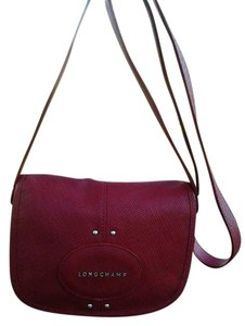 Longchamp Red Messenger Bag