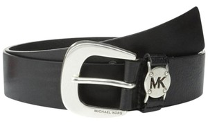 Michael Kors Michael Kors Leather Belt with MK Cutout Logo Disc Belt Size X-Small