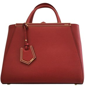 Fendi Tote in Ruby Red
