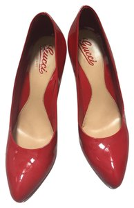 Gucci Patent Leather Red Pumps