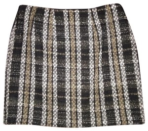 Ann Taylor Mini Skirt Multi Black, Beige, Creme