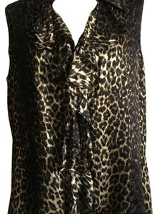 Dana Buchman Top Cheetah print