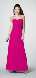 Alfred Angelo Fuchsia Polyester Style 7180 Formal Bridesmaid/Mob Dress Size 4 (S)