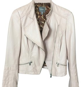 Keena-T Nude- pale pink Leather Jacket
