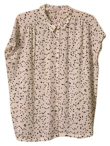 Ann Taylor LOFT Top Black and Slightly off white