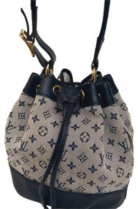 Louis Vuitton Bucket Mini Lin Blue Baguette